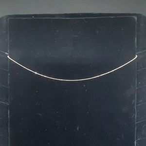 Shimmery Silver Chain Necklace